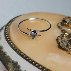 Sterling Silver & Labradorite Bypass Ring